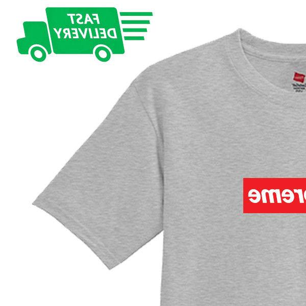 "Hanes Cotton T shirt Supreme Quality to 2XL"" Gear Vans APE"