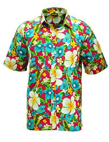 hawaiian shirt beach flower print button down