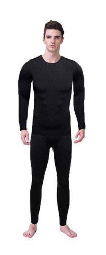 Hi-crazystore Men's Underwear Winter Ski Fleece Thermal Set