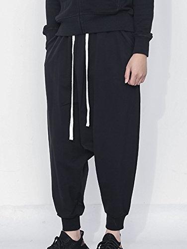 JINXUAN Men's Pants Casual Pants Waist Sport Pants Baggy Harem Pants Black