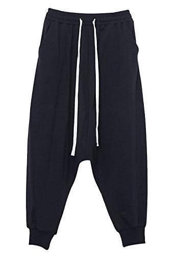 JINXUAN Hip Pants Waist Sport Baggy Harem Black