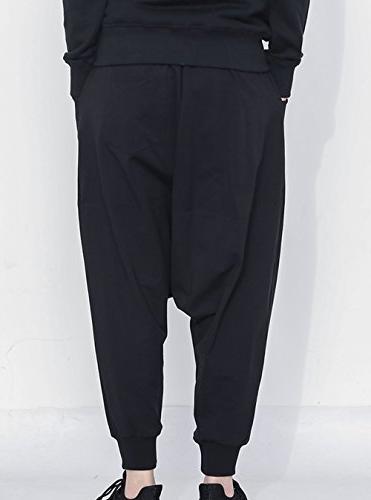 JINXUAN Hip Pants Pants Waist Sport Baggy Pants Black
