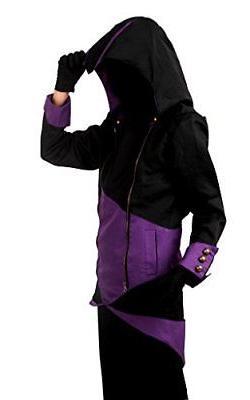 Cos2be Hoodie Jacket Black&Purple,Men-L
