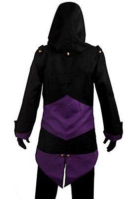 Cos2be Hoodie Jacket Coat Black&Purple,Men-L