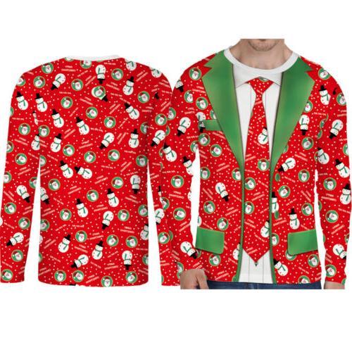 Hot Christmas Cotton Men's Top Clothing O Neck