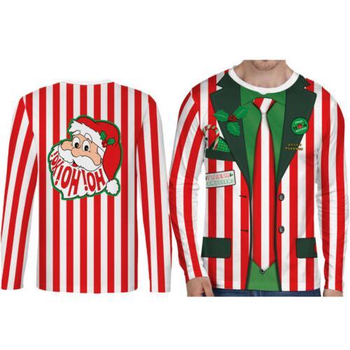 Hot Christmas Funny Men's Top Clothing O