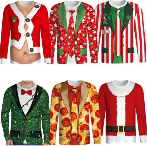 Hot Christmas Men's Long O Neck