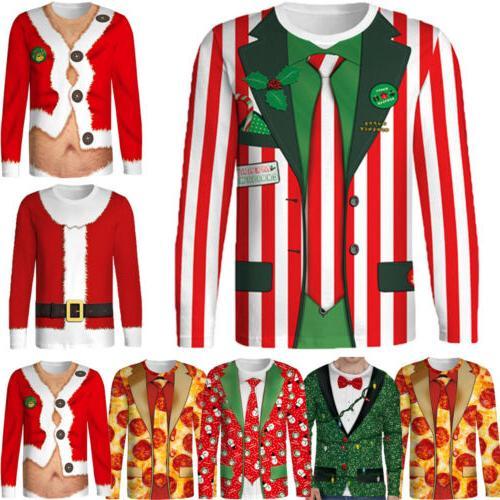 hot christmas cotton funny men s shirt