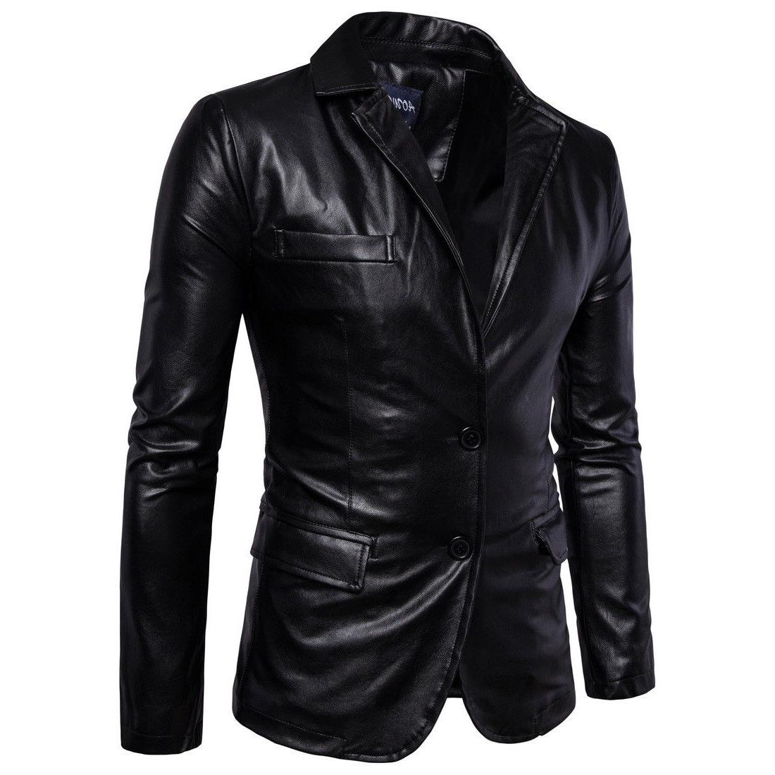 Hot Leather Clothing Simple Back Jacket Top