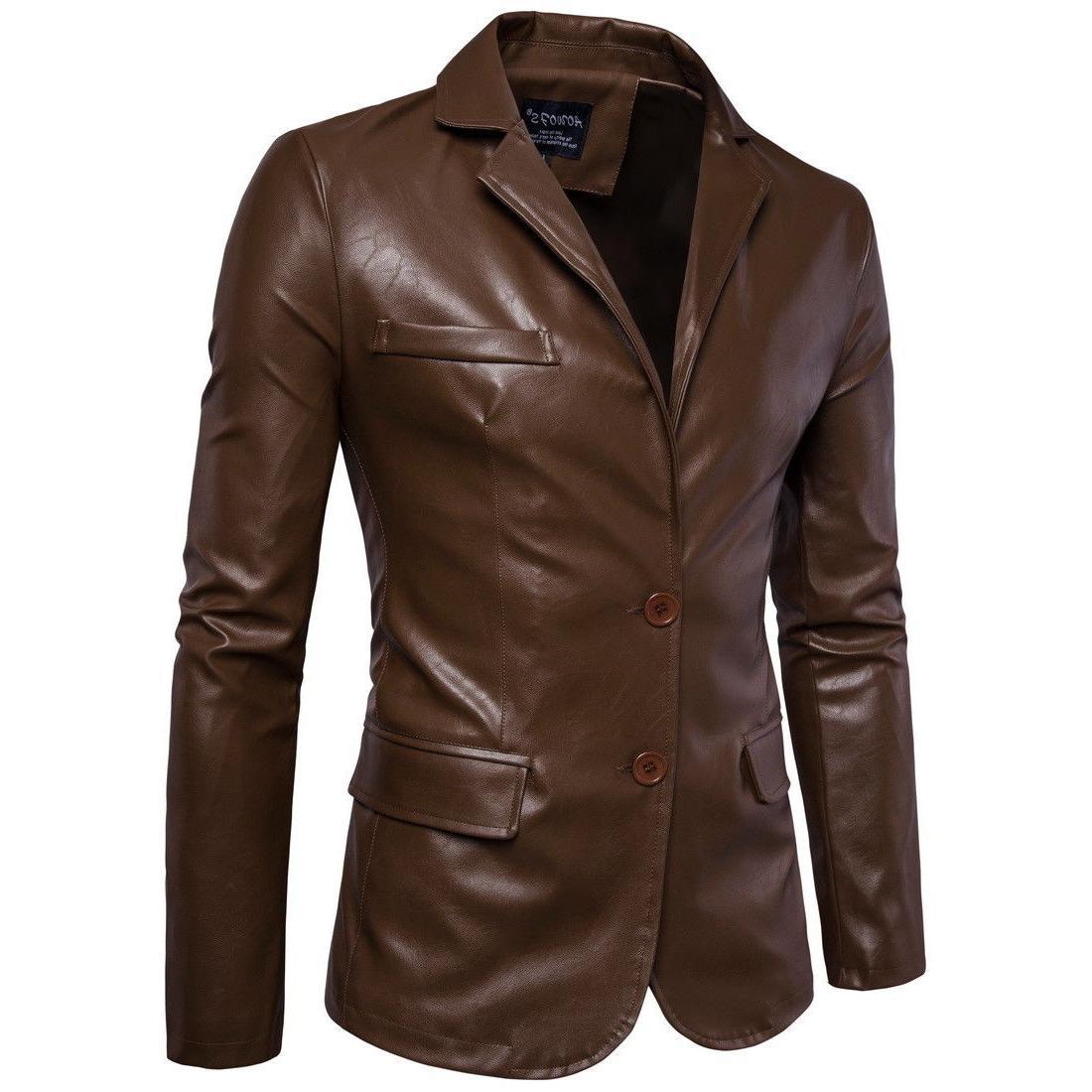 Hot Fall Leather Leather Back Coat