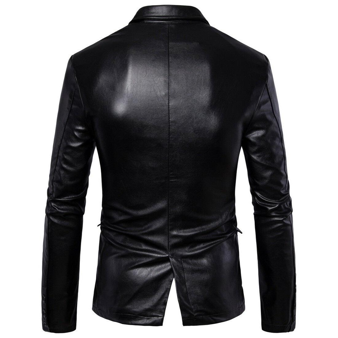 Hot Fall Men's Leather Back Slit Top