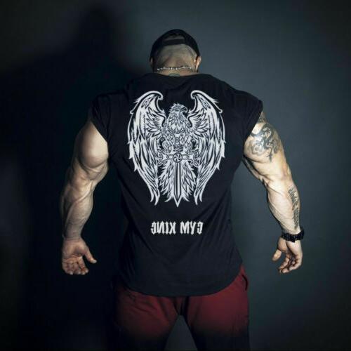 Hot Men Bodybuilding Vest Tank Top Clothing