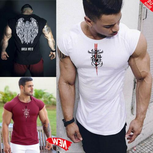 hot gym men bodybuilding vest tank top