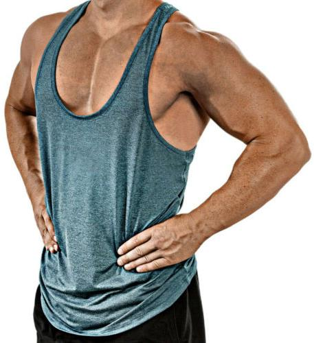 Hot Gym Vest Bodybuilding Top Clothing T-Shirt US