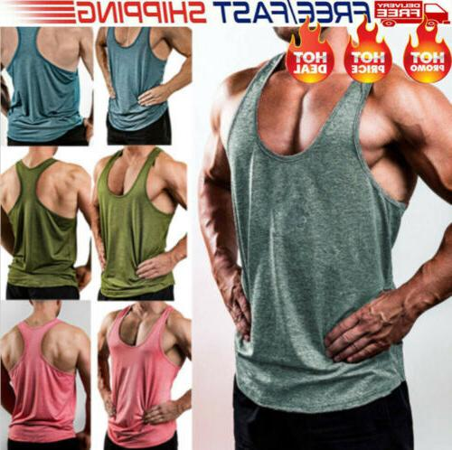 hot gym men vest bodybuilding tank top