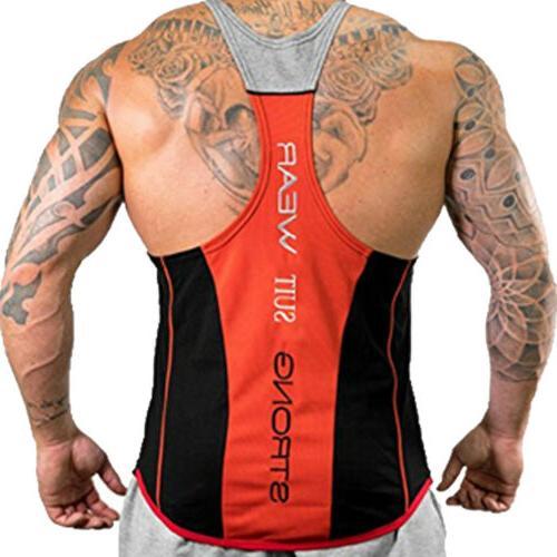 HOT!Men's Bodybuilding Top Y-Back Racerback Workout Clothes