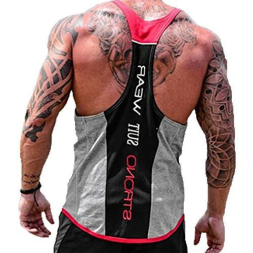 HOT!Men's Top Y-Back Racerback Workout Clothes