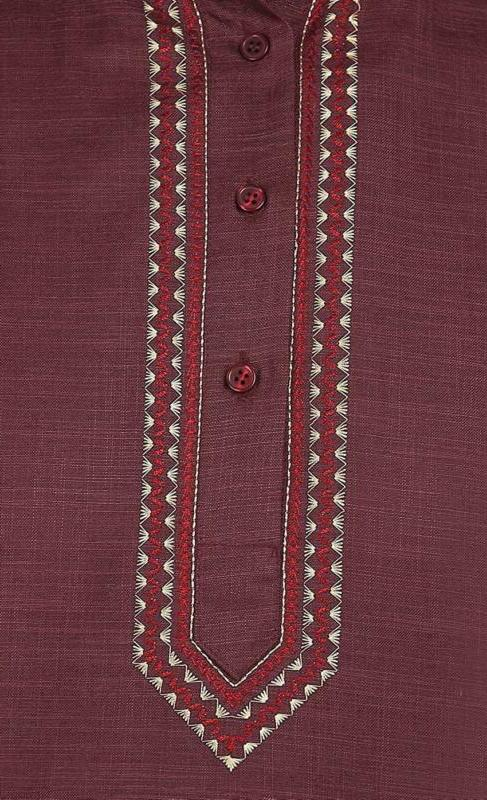 Indian Clothing Fashion Embroidered Mens Short Cotton India