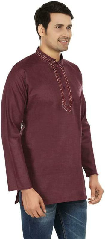 Indian Fashion Embroidered Mens Cotton