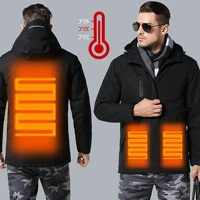 Intelligent USB Winter Electric Heated Vest Coat