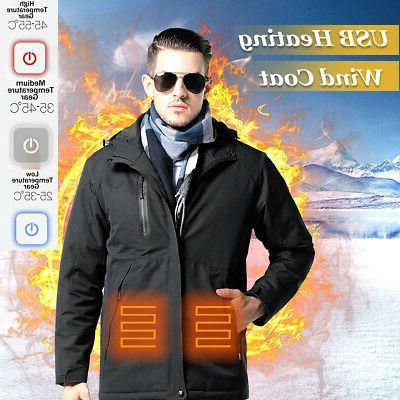 intelligent usb mens winter electric heated vest