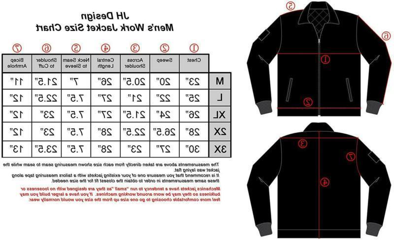 J.H. Design Jacket Zip Novelty