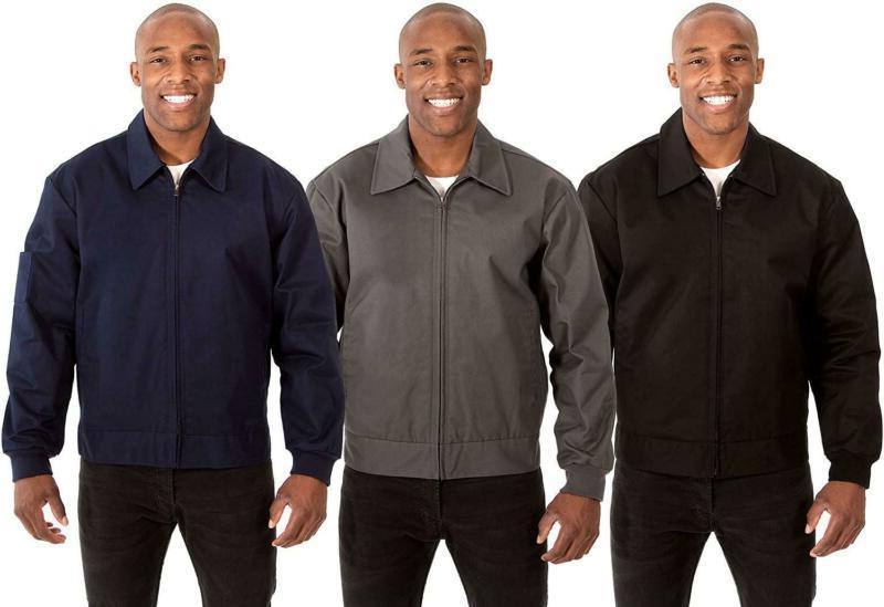 J.H. Design Mens Jacket Black A Zip Quilted Novelty Apparel