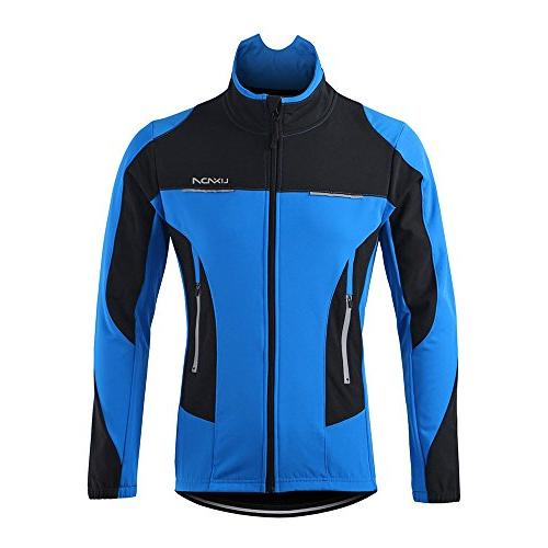 Lixada Jacket Waterproof Breathable Cycling Clothing Riding Long Sleeve Sportswear+Bicycle Trousers
