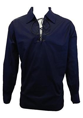 jacobite ghillie shirt black cream or white