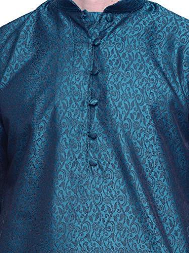 Jacquard Silk Mens Party Wear Kurta Clothing