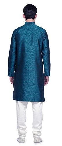 Jacquard Mens Party Wear Kurta Clothing