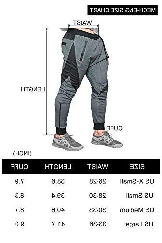 MECH-ENG Men's Joggers Gym Workout Trousers with Pockets