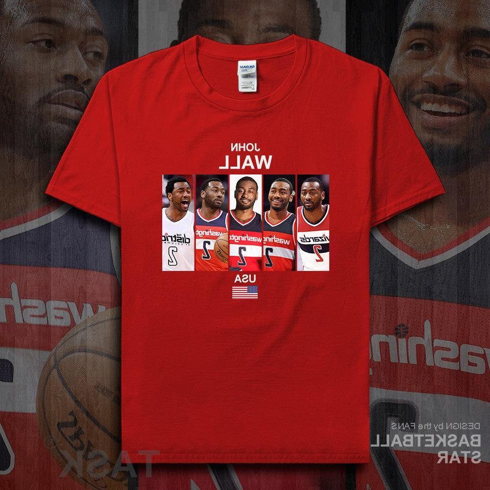 John t shirt <font><b>jerseys</b></font> Wall <font><b>basketballer</b></font> tshirt cotton fitness <font><b>clothing</b></font> t-shirts the fans