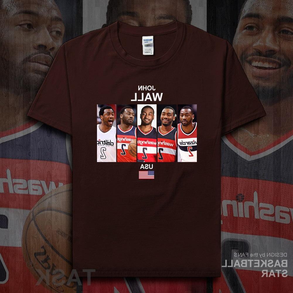 John t shirt <font><b>jerseys</b></font> Wall USA <font><b>basketballer</b></font> fitness the fans