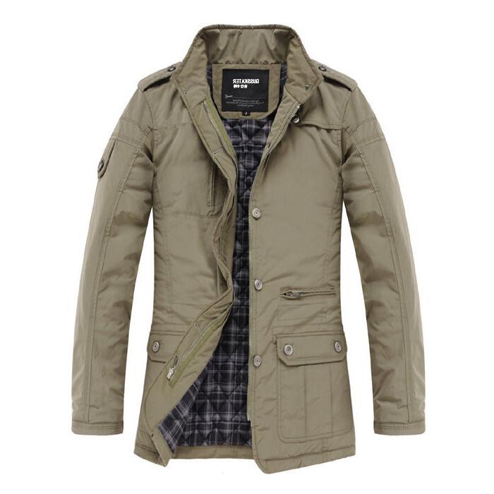 K1031 Jacket Slim Clothes Warm Overcoat Casual Warm