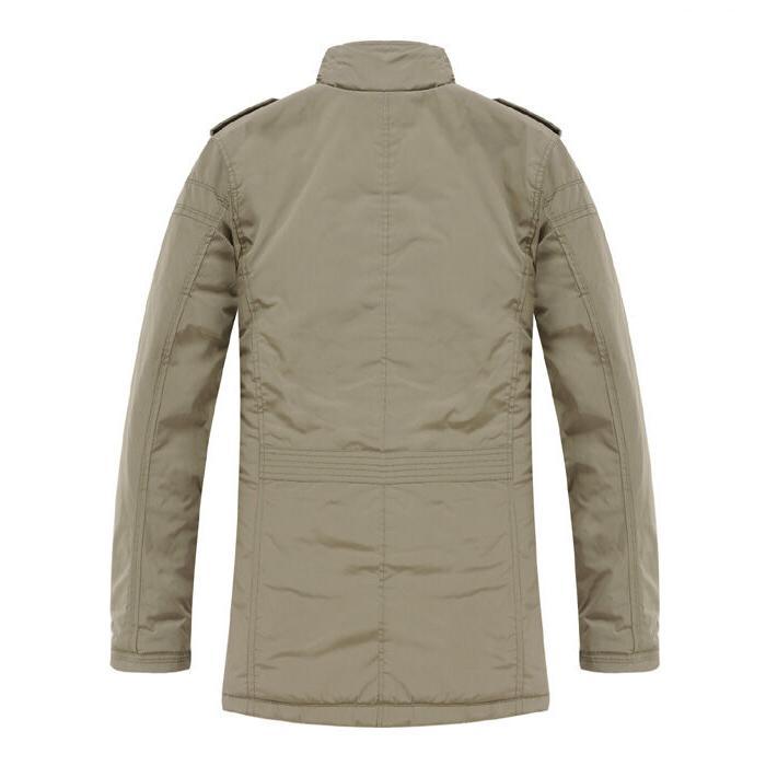 K1031 Men's Jacket Slim Clothes Warm Overcoat Outerwear