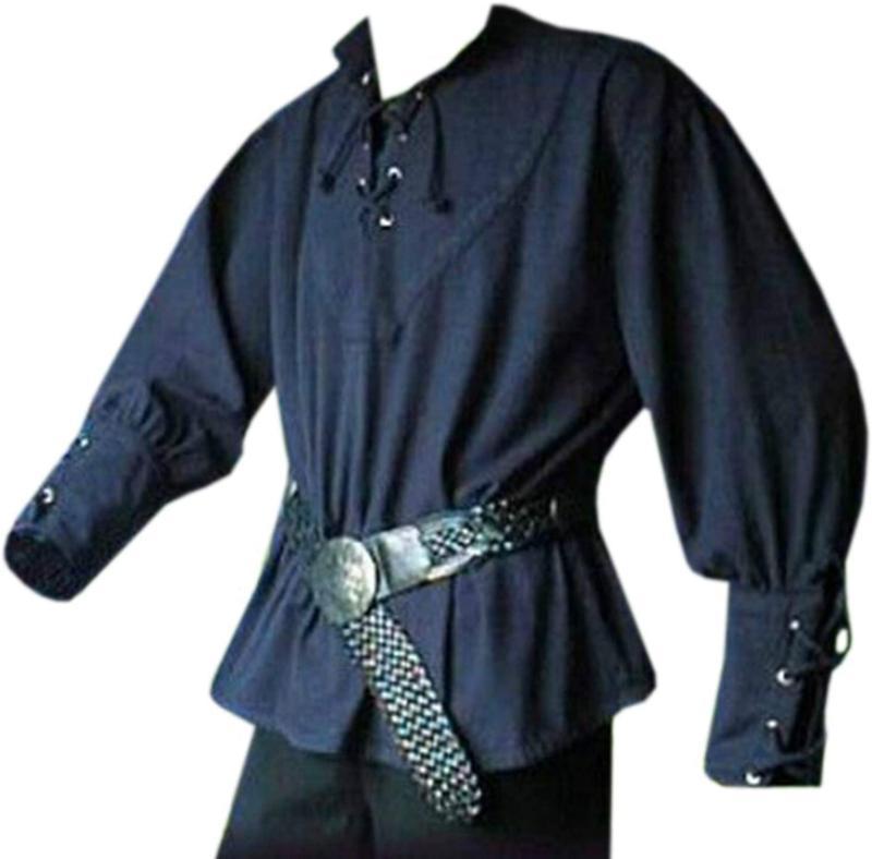 Karlywindow Men'S Medieval Lace Up Pirate Mercenary Scottish