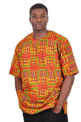 kente african print dashiki shirt dp3227m