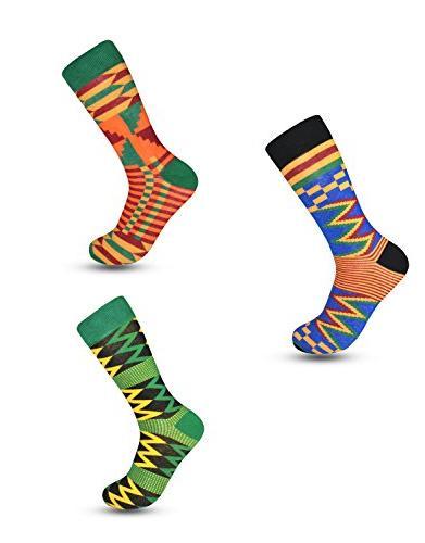 kente cloth socks for dress or casual