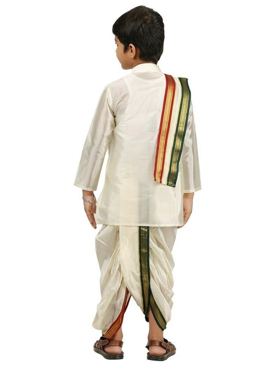 Kids-Boys-Kurta-Dhoti-Set-Indian-Ethnic-Cultural-Fancy-Party-Dress-Cotton-