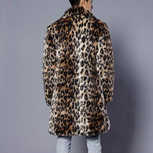 Mens Leopard Faux Jacket Outwear