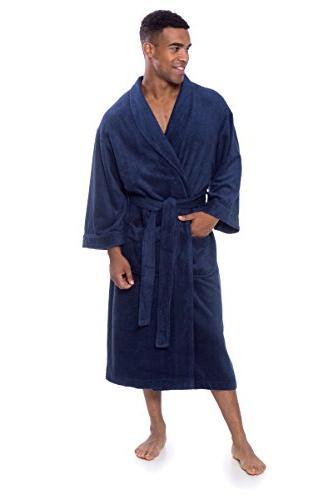 Men's Luxury Terry Bathrobe Soft Spa Robe by Top MB0101-MDV-LXL