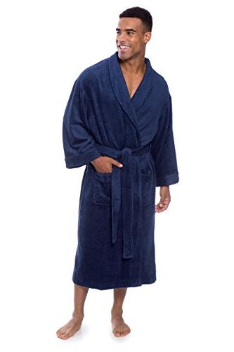 Men's Luxury Cloth Bathrobe Robe Texere MB0101-MDV-LXL