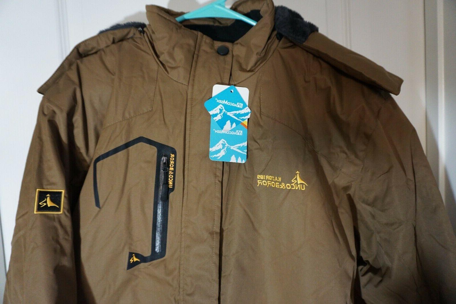 MAGCOMSEN Men's Waterproof Mountain Jacket Ski Snow 3XL