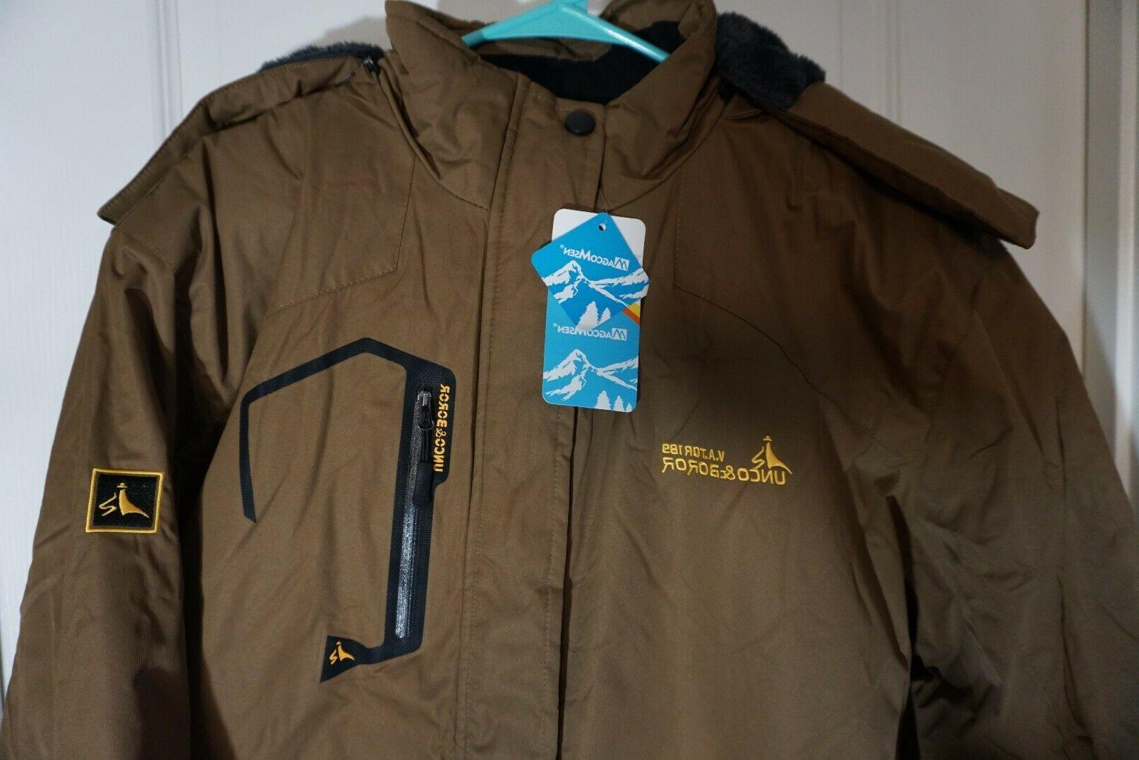 MAGCOMSEN Waterproof Mountain Jacket Windproof Ski Snow 3XL