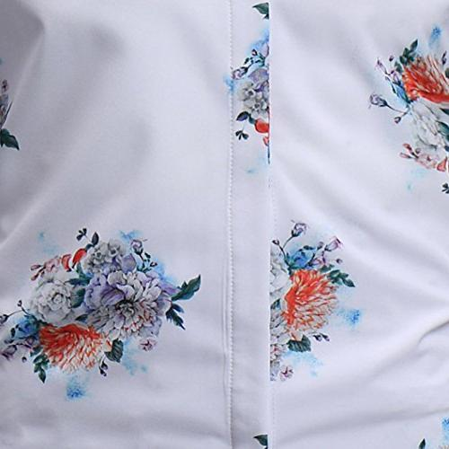VESNIBA Man Floral Shirts, Sleeve Blouse
