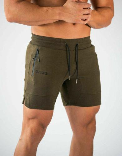 Men Casual Summer Short Pants Gym Slim Fit Sport Pants Cotto