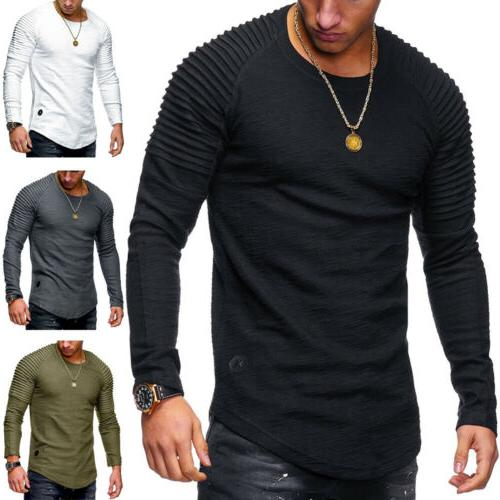 Men Tee Casual Tops Blouse US