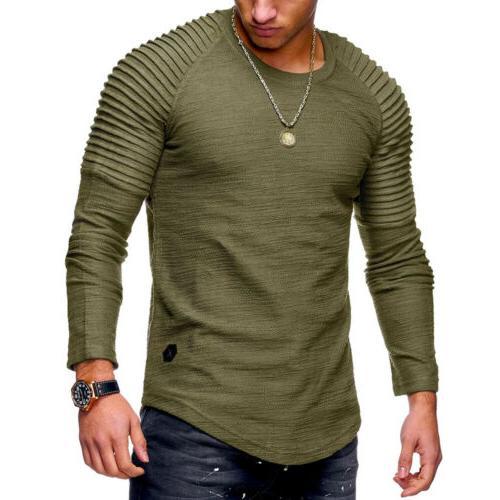 Men Slim Fit O-Neck Tee T-shirt Blouse
