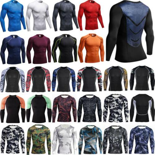 mens compression long sleeve base layer t